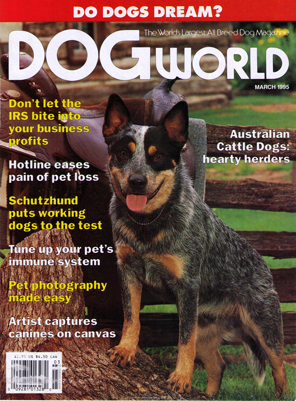 Schutzhund article on the cover of DogWorld Magazine